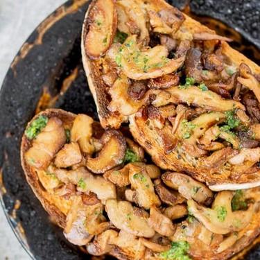 St. George's Mushroom on Toast Wild Garlic Pesto Recipe   SideChef