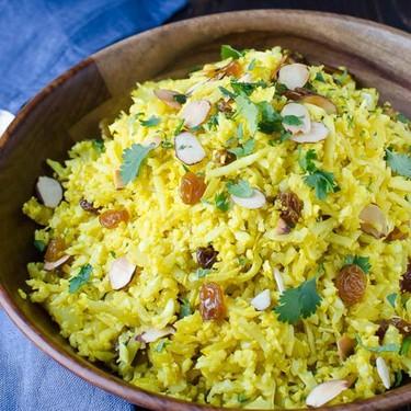 Curried Cauliflower Rice Pilaf Recipe   SideChef