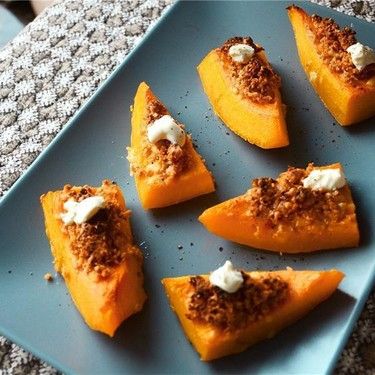 Roasted Squash with Tomato and Goat Cheese Crumb Recipe | SideChef