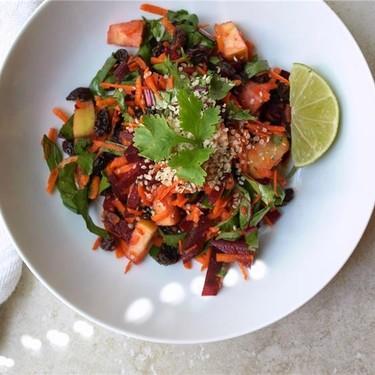 Detox Salad and Ginger Lime Cardamom Dressing Recipe   SideChef