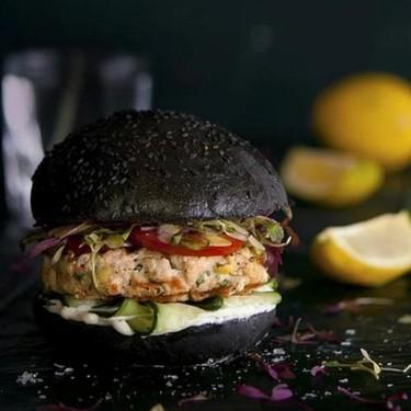 Black Salmon Burger Recipe | SideChef