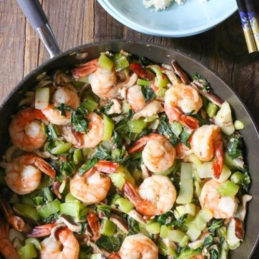 Garlicky Shrimp Stir-Fry with Shiitake Mushrooms Recipe   SideChef