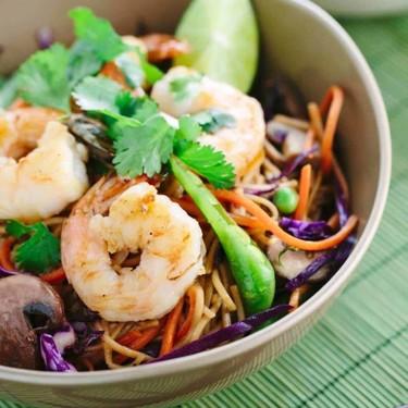 Soba Noodles with Spicy Garlic Shrimp Recipe | SideChef