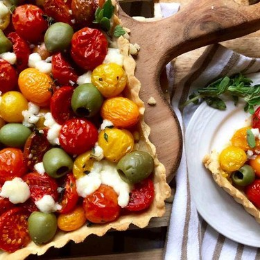 Summer or Anytime Tomato and Olive Tart Recipe | SideChef