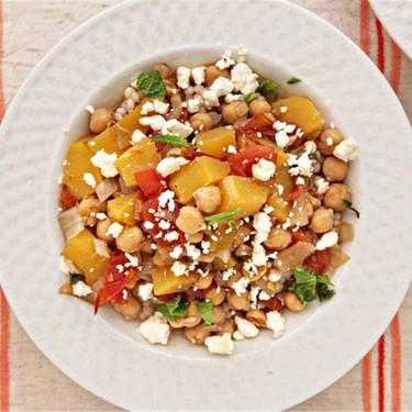 Acorn Squash and Chickpea Stew over Couscous Recipe | SideChef