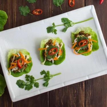 Lemongrass Pork Bahn Mi Lettuce Wraps Recipe   SideChef