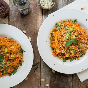 Sweet Potato Pad Thai With Sriracha Sauce Recipe   SideChef