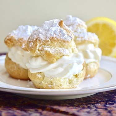 Lemon Lavender Cream Puffs Recipe | SideChef