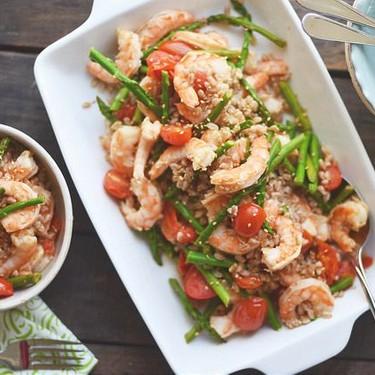 Asparagus and Shrimp Stir-Fry with Farro Recipe   SideChef