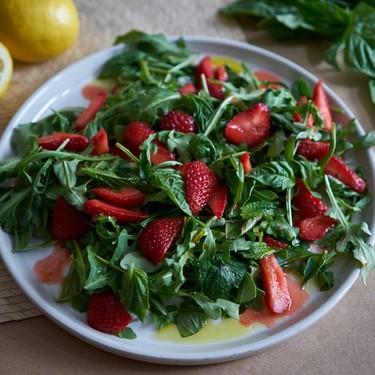 Strawberry Arugula Salad Recipe with Basil and Mint Recipe   SideChef