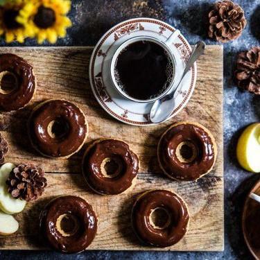 Cider Doughnuts with Tahini Chocolate Bourbon Glaze Recipe | SideChef