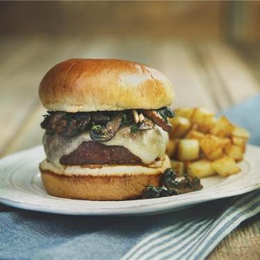 Mustard-Glazed Mushroom Burgers with Golden Fries Recipe   SideChef