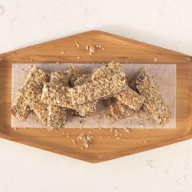 Dark Chocolate Peanut Butter Oat Bars Recipe | SideChef