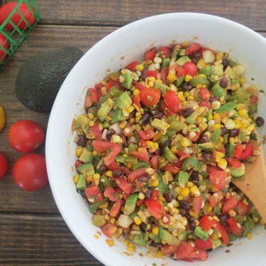 Chunky Salsa with Roasted Corn, Avocado and Tomatoes Recipe | SideChef