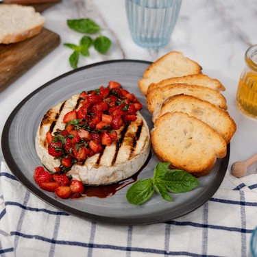 Grilled Brie with Balsamic Strawberries Recipe | SideChef