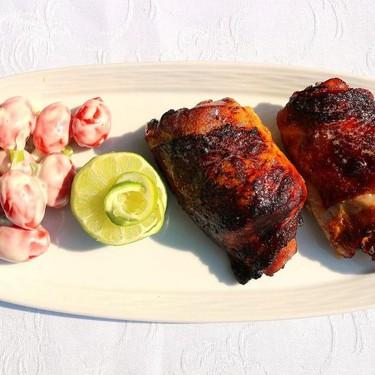 Roast Chicken Thighs with Grape Tomatoes in Yogurt Dressing Recipe | SideChef