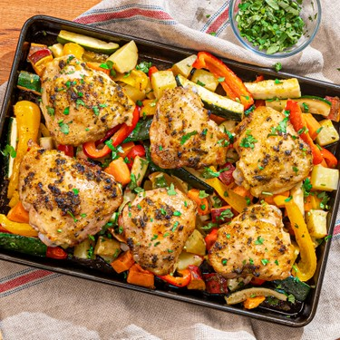 Lemon Butter Sheet Pan Chicken with Roasted Vegetables Recipe   SideChef