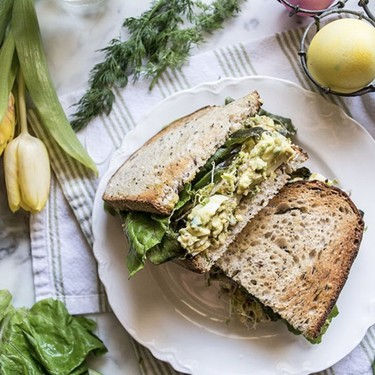 Avocado Egg Salad Sandwich with Sprouts Recipe   SideChef
