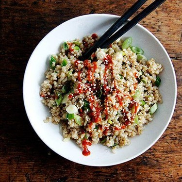 Perfect Instant Pot Brown Rice with Sesame-Soy Dressing Recipe   SideChef