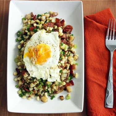 Corn & Bacon Hash Recipe   SideChef