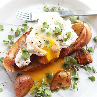 Poached Eggs Over Crispy Potatoes and Toast Recipe | SideChef