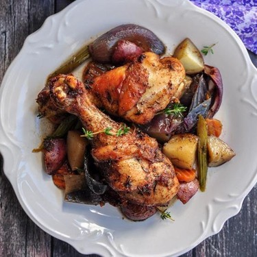 One-Pan Caribbean Jerk Chicken With Vegetables Recipe | SideChef