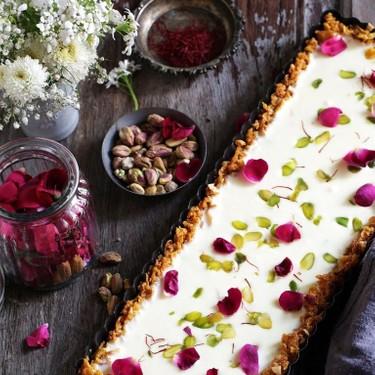 Saffron White Chocolate Cornflakes Tart Recipe | SideChef