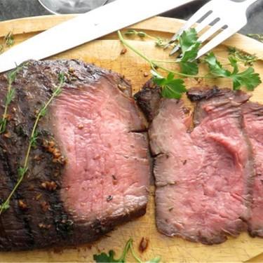 Bourbon Marinated Flank Steak Recipe | SideChef