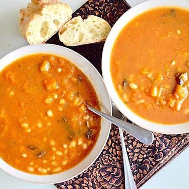 Butternut Squash White Bean Soup Recipe | SideChef