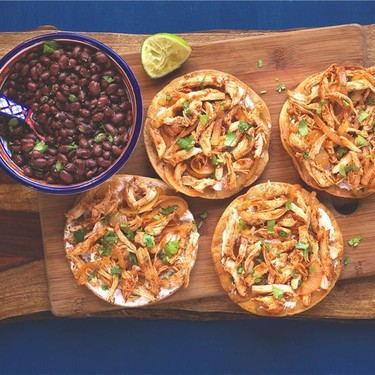 Chicken Tinga Tostadas Recipe   SideChef