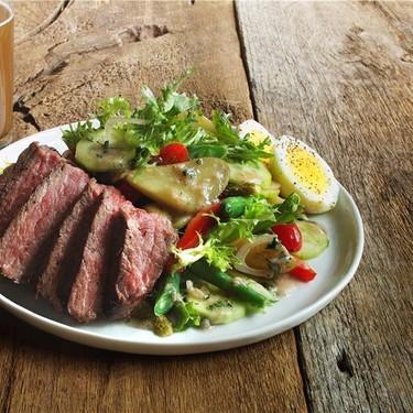 Beef Salad Parisienne with Tarragon Vinaigrette Recipe   SideChef