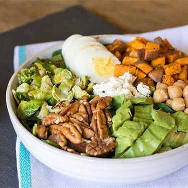 Green Powerhouse Salad with Roasted Vegetables Recipe   SideChef