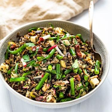 Italian Wild Rice Salad with Sherry Shallot Vinaigrette Recipe   SideChef