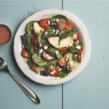Chicken Spinach Salad with Goat Cheese Recipe | SideChef
