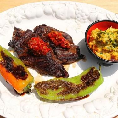 Peruvian Steak with Avocado Salsa and Peppers Recipe   SideChef