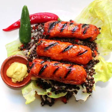 Grilled Cevapcici and Beluga Salad Recipe | SideChef
