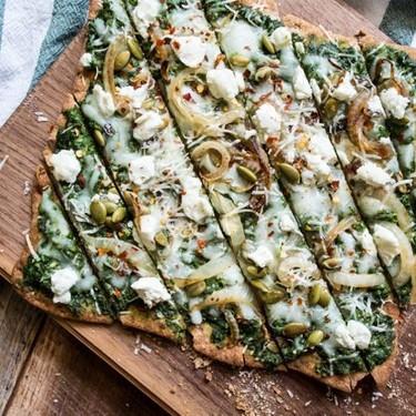 Three Cheese Spinach Pesto Pizza Recipe   SideChef