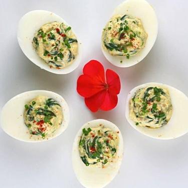 Spinach Artichoke Deviled Eggs Recipe   SideChef