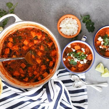 Mexican Sweet Potato and Black Bean Stew with Quinoa and Kale Recipe   SideChef