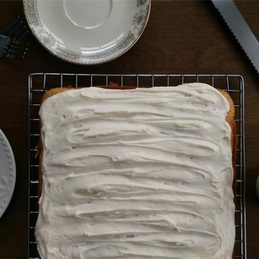 Sweet Potato Spice Sheet Cake with Maple Syrup Frosting Recipe | SideChef