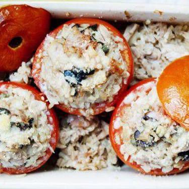 Healthy Stuffed Tomatoes with Tuna, Ham, and Brown Rice Recipe | SideChef