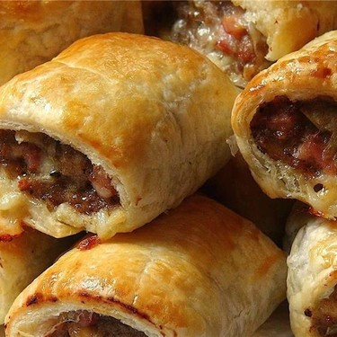 Cheesy Beef and Bacon Sausage Rolls Recipe   SideChef