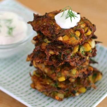 Zucchini, Corn and Feta Fritters Recipe   SideChef