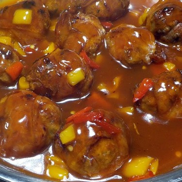 Bacon-Wrapped Sweet and Sour Turkey Meatballs Recipe   SideChef
