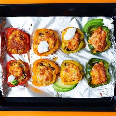 Enchilada Quinoa Stuffed Peppers Recipe | SideChef