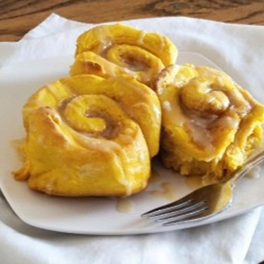 Pumpkin Cinnamon Rolls with Brown Sugar Glaze Recipe   SideChef