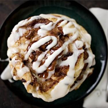 Coconutty Cinnamon Roll Pancakes Recipe   SideChef