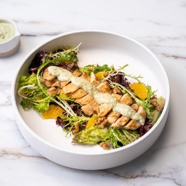 Steam Roast Chicken with Mint Sauce & Green Salad Recipe | SideChef