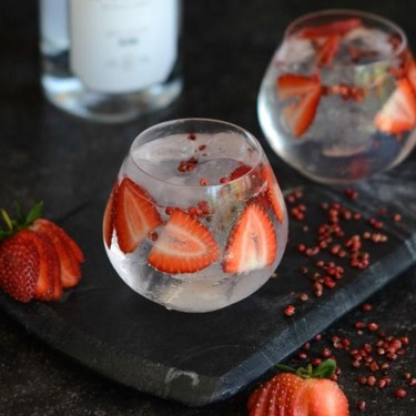 Spicy Strawberry Gin and Tonic Recipe   SideChef