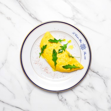 Omelet with 'Risotto' of Soy Sprouts & Shiitake Recipe | SideChef